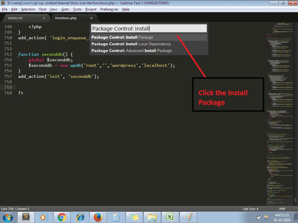 How To Install WordPress Packages In Sublime Text - Artisans Web
