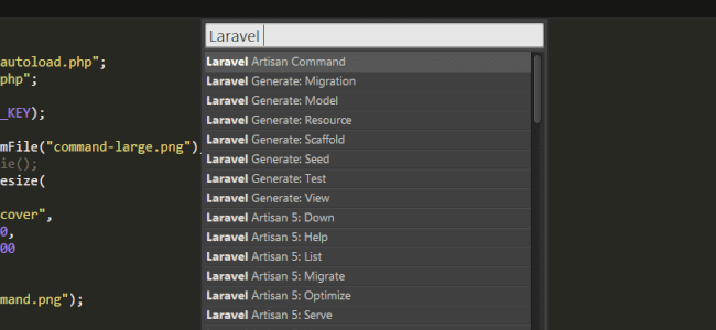 How To Run Laravel Artisan Commands In Sublime Text