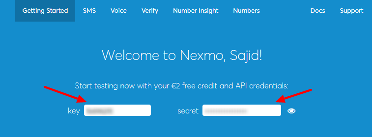 How To Send Text Message From Website Using Nexmo API And
